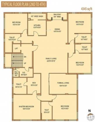 Siddha Lovelock (5BHK+5T (4,345 sq ft)   Servant Room Apartment 4345 sq ft)