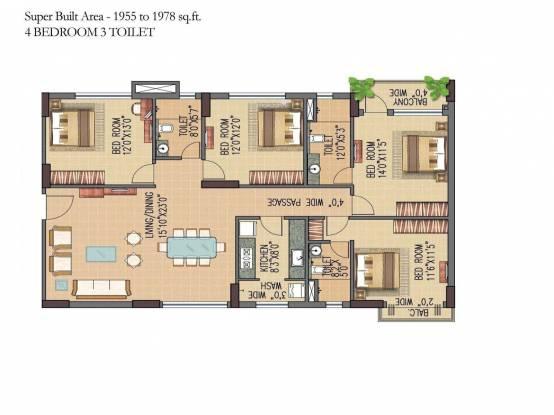 Forum Pravesh (4BHK+3T (1,978 sq ft) Apartment 1978 sq ft)
