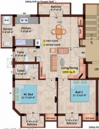 XS Vibe (2BHK+2T (1,059 sq ft) Apartment 1059 sq ft)