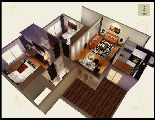 Kasturi Voyage (2BHK+2T (955 sq ft) Apartment 955 sq ft)