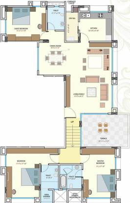 Geras Regent Manor (3BHK+3T (2,403 sq ft) Apartment 2403 sq ft)
