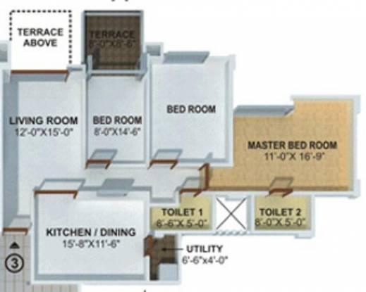 Kool Homes Rising Landscapes (2BHK+2T (1,320 sq ft) Apartment 1320 sq ft)