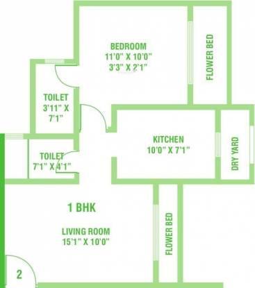 Kamanwala Manavsthal (1BHK+2T (715 sq ft) Apartment 715 sq ft)