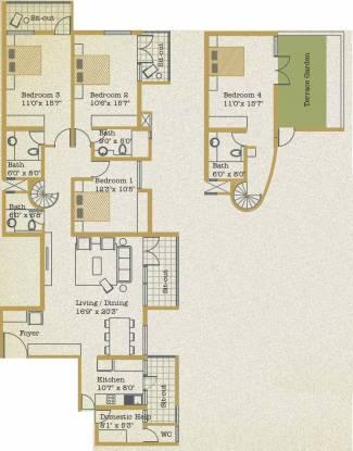 Spectra Floris (4BHK+4T (2,268 sq ft)   Servant Room Apartment 2268 sq ft)