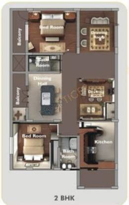 Vmaks Roselle (2BHK+2T (1,139 sq ft) Apartment 1139 sq ft)