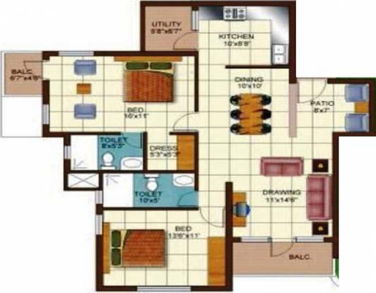 Golden Golden Palms (2BHK+2T (1,440 sq ft) Apartment 1440 sq ft)