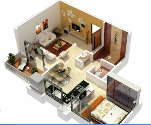 Vascon Citron (1BHK+1T (780 sq ft) Apartment 780 sq ft)