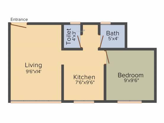 Baria Yashwant Nagar (1BHK+1T (480 sq ft) Apartment 480 sq ft)