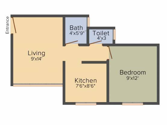Baria Yashwant Nagar (1BHK+1T (510 sq ft) Apartment 510 sq ft)