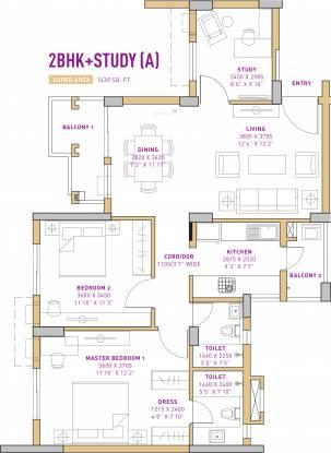 Vatika The Seven Lamps (2BHK+2T (1,430 sq ft) + Study Room Apartment 1430 sq ft)