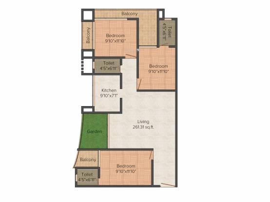 Team Bellagio (3BHK+3T (1,746 sq ft) Apartment 1746 sq ft)