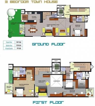 Ozone Residenza (3BHK+4T (3,336 sq ft)   Servant Room Apartment 3336 sq ft)