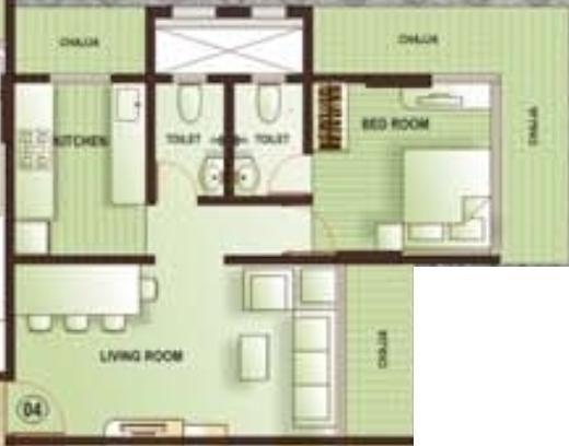 Kamla Aquina (1BHK+1T (680 sq ft) Apartment 680 sq ft)