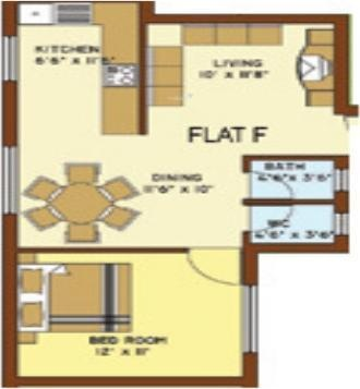 Marg Navratna (1BHK+1T (656 sq ft) Apartment 656 sq ft)