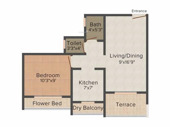 Shankheshwar Exotica (1BHK+1T (685 sq ft) Apartment 685 sq ft)