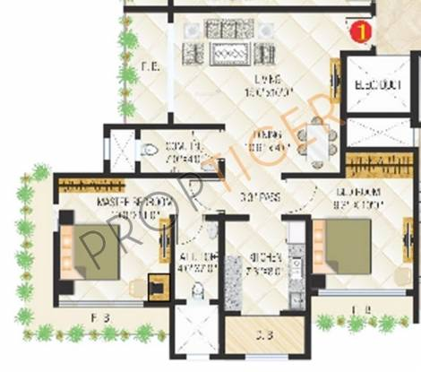 Sanghvi Exotica (1BHK+1T (755 sq ft) Apartment 755 sq ft)