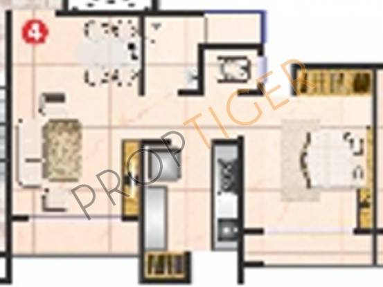 Sanghvi Valley (1BHK+1T (700 sq ft) Apartment 700 sq ft)