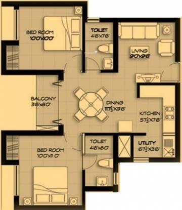 Marg Pushpadruma (2BHK+2T (847 sq ft) Apartment 847 sq ft)