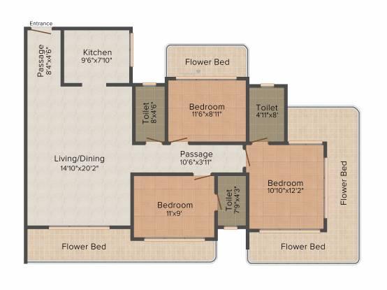 Neumec Overture (3BHK+3T (2,050 sq ft) Apartment 2050 sq ft)