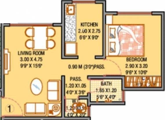 Raunak Unnathi Woods (1BHK+1T (578 sq ft) Apartment 578 sq ft)