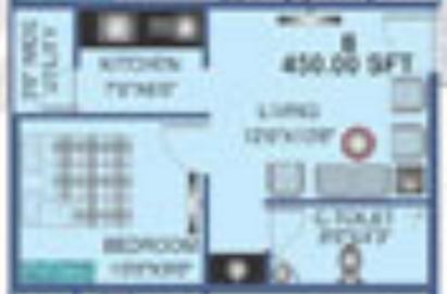 Prabhavathi Meridian (1BHK+1T (450 sq ft) Apartment 450 sq ft)