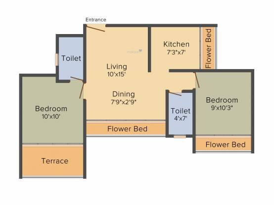 Nath Elite Homes (2BHK+2T (985 sq ft) Apartment 985 sq ft)