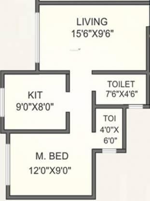 Agarwal Meadows (1BHK+1T (590 sq ft) Apartment 590 sq ft)