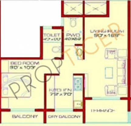 Advance Heights (1BHK+1T (720 sq ft) Apartment 720 sq ft)