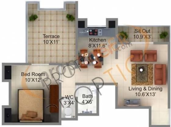 Manav Swapnalok (1BHK+1T (595 sq ft) Apartment 595 sq ft)