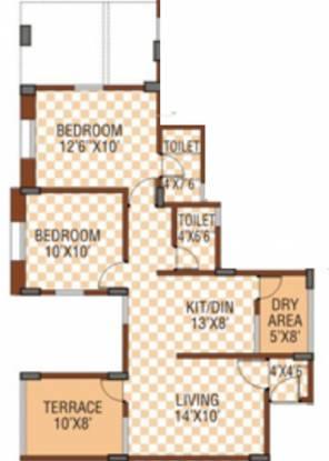 Sanjeevani Sangam (2BHK+2T (900 sq ft) Apartment 900 sq ft)