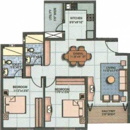 Emmanuel Vista (2BHK+2T (1,105 sq ft) Apartment 1105 sq ft)