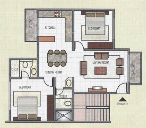 Emmanuel Woods (2BHK+2T (1,017 sq ft) Apartment 1017 sq ft)