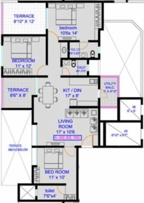 Wadhwani Sai Vision (3BHK+3T (1,399 sq ft) Apartment 1399 sq ft)