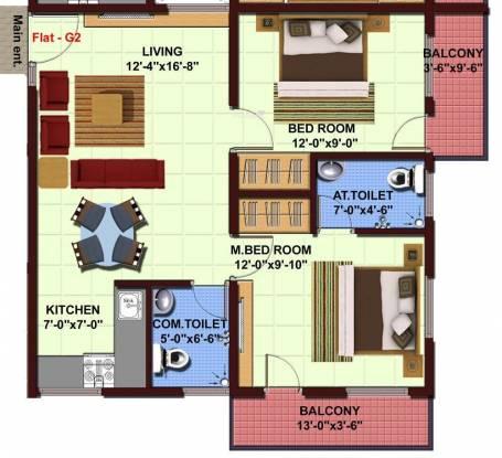 NBR NBR Lake View (2BHK+2T (898 sq ft) Apartment 898 sq ft)