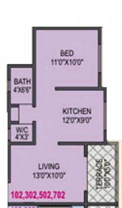 RK Alankapuram (1BHK+1T (473 sq ft) Apartment 473 sq ft)