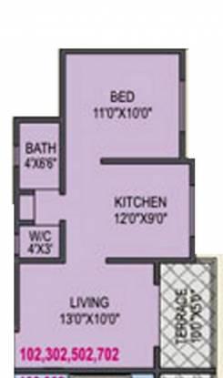 RK Alankapuram (1BHK+1T (578 sq ft) Apartment 578 sq ft)