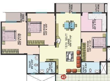 Sumadhura Mathru Shree Residency (3BHK+3T (1,570 sq ft) Apartment 1570 sq ft)