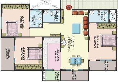 Sumadhura Mathru Shree Residency (3BHK+3T (1,540 sq ft) Apartment 1540 sq ft)