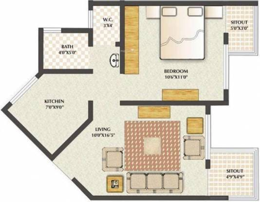 Mittal Green Hive (1BHK+1T (504 sq ft) Apartment 504 sq ft)