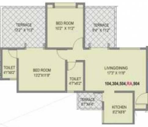Unique Blliss (2BHK+2T (1,045 sq ft) Apartment 1045 sq ft)