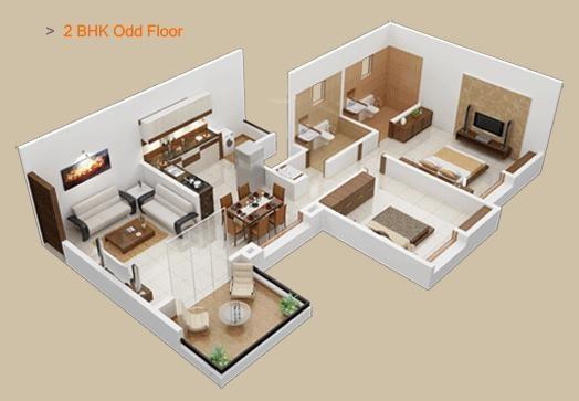 Shreeyash Shree Woods (2BHK+2T (991 sq ft) Apartment 991 sq ft)