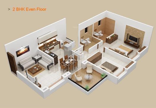 Shreeyash Shree Woods (2BHK+2T (1,049 sq ft) Apartment 1049 sq ft)