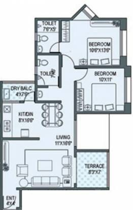 Paranjape Gloria Grace (2BHK+2T (994 sq ft) Apartment 994 sq ft)