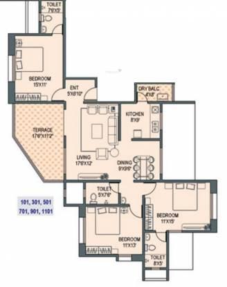 Paranjape Gloria Grace (3BHK+3T (1,240 sq ft) Apartment 1240 sq ft)