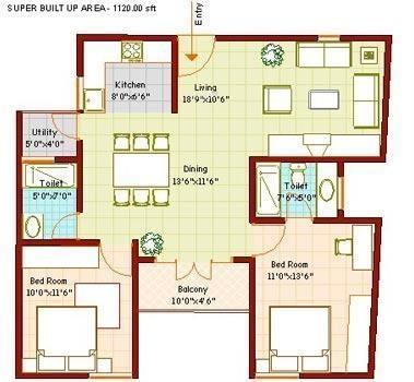 Vanshee Vanshee Castle (2BHK+2T (1,120 sq ft) Apartment 1120 sq ft)