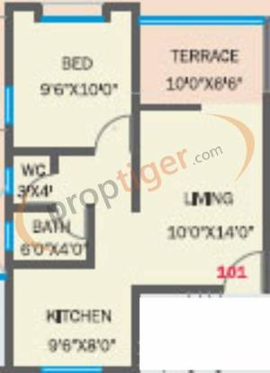 Bhandari Ivory (1BHK+1T (535 sq ft) Apartment 535 sq ft)