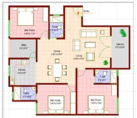 Vanshee Viceroy Boulevard (3BHK+3T (1,630 sq ft) Apartment 1630 sq ft)