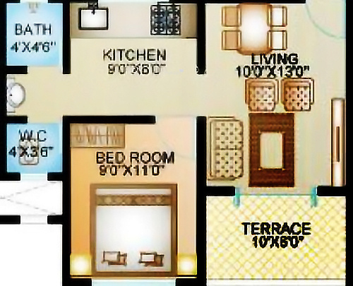 ARK Alfa Homes (1BHK+1T (520 sq ft) Apartment 520 sq ft)