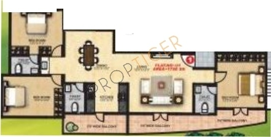 Shravanthi Prosper (3BHK+3T (1,780 sq ft) Apartment 1780 sq ft)