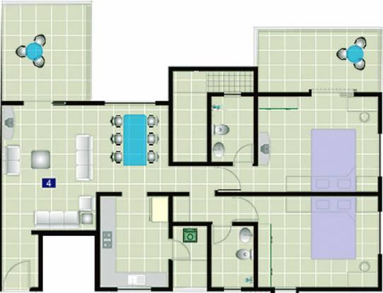 Pristine Prism (2BHK+2T (1,170 sq ft) Apartment 1170 sq ft)